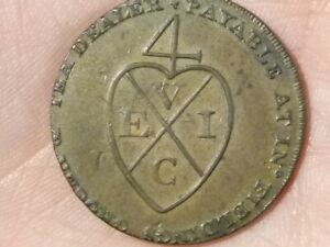 1793 Demi Penny Fielding 'manchester Pictorial Jeton Coin #t2374-afficher Le Titre D'origine Pour Assurer Une Transmission En Douceur