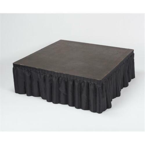 Kwik Covers KSS1612-BLK 100 Percent Polyester High Kwik-Stage Skirt Black-P...