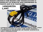 AUX radio FIAT Grande Punto 500 Lancia Musa CAVO INGRESSO SOLO AUDIO MP3 1,4MT