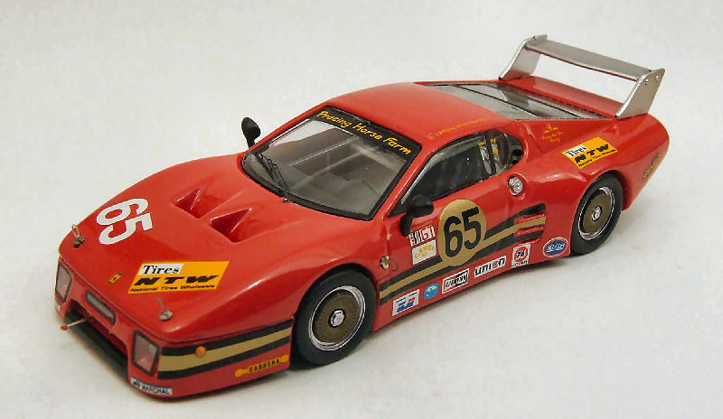 Ferrari 512 Bb  65 Retirouge 24h Daytona 1983 Baird   Mead   Pumpelly 1 43 Model
