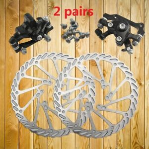 Bike Disc Brake Front /& Rear Disc 160 mm Rotor Brake Kit for Mountain Bicycle
