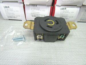 Pass /& Seymour L520-R 20A 125V NEMA L5-20R Turnlok Receptacle Lot of 7