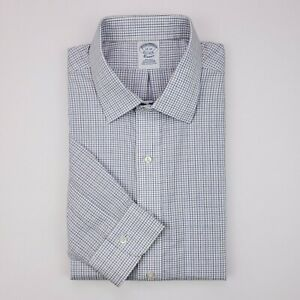 Brooks-Brothers-17-33-Shirt-White-Multicolor-Micro-Check-Classic-Non-Iron-Supima