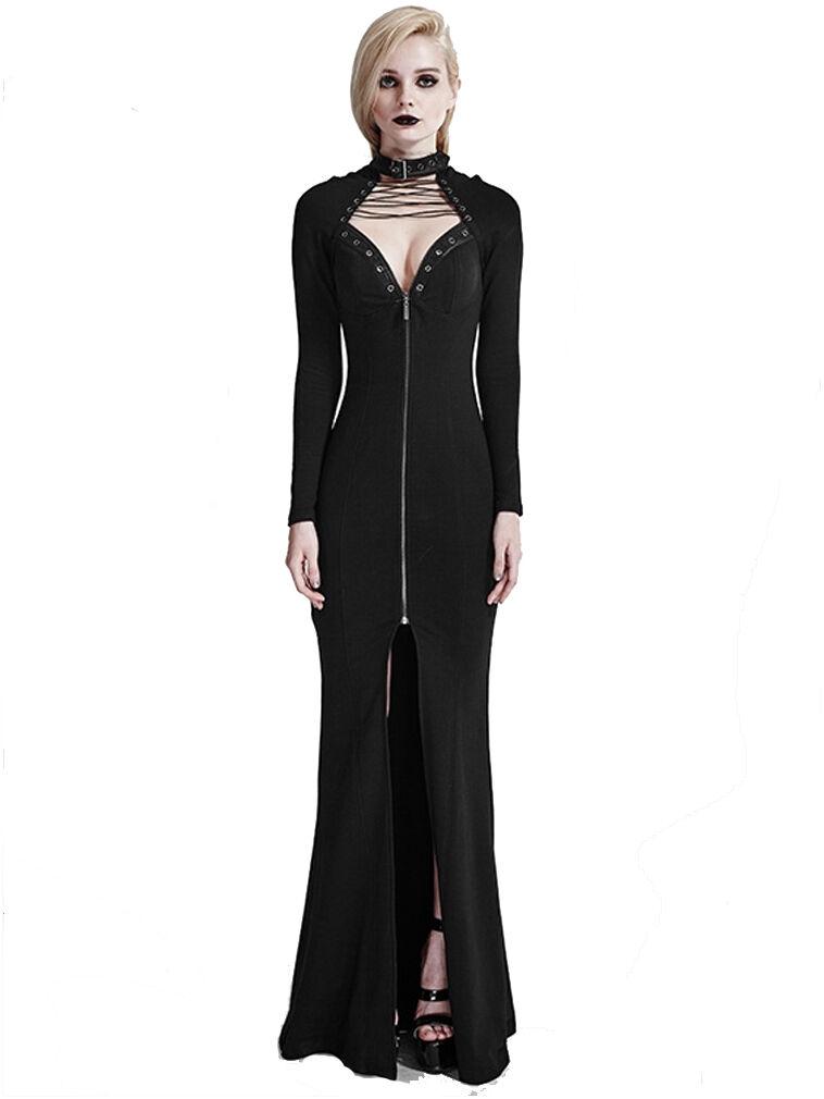 Fantasmogoria - schwarz MUSE DRESS - damen schwarz Dress   Gothic Boho Occult