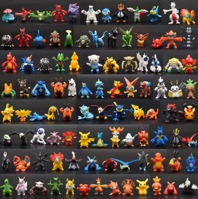 72 PCS Lots Cute Pokemon Mini Random Figures Kids Toy Xmas Stickers Gift USA