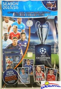 2015-2016-Topps-Champions-League-Factory-Sealed-Starter-Kit-Album-20-Stickers