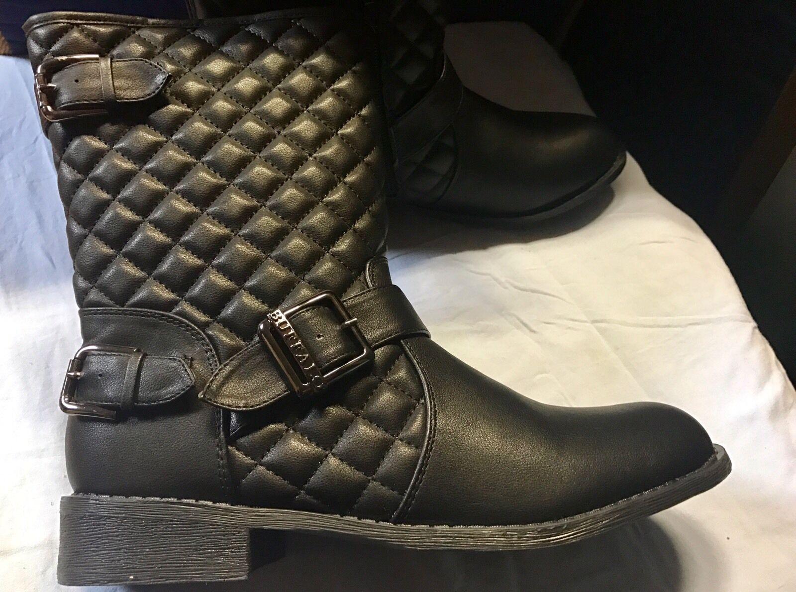 Stivaletti e cuio tronchetti BUFFALO Tg. 41 cuio e ankle boots in black 94e2a5