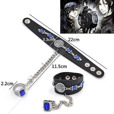 Black Butler Oddo's Eye Wrist Belt Ring Bracelet Cosplay Unisex For Anime Fan