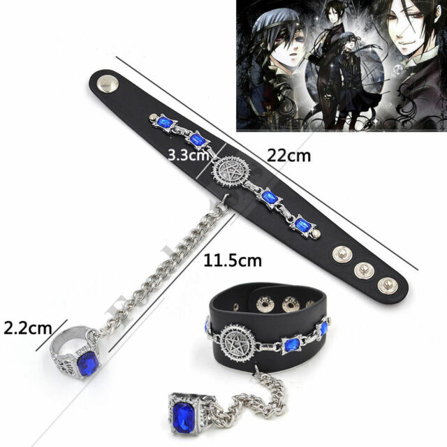 Black Butler Oddo's Eye Wrist Belt Ring Bracelet Cosplay Unisex For Anime Fan