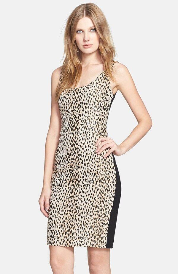 Diane von Furstenberg 'Arianna' Mixed Media Sheath Sheath Sheath Dress ( Size 6) 3a7ec0