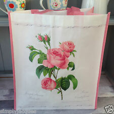 Pink Rose Reusable Shopping / Shopper Bag, Gift Shabby French Chic