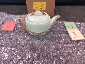 Details about MZ Austria Porcelain Moritz Zdekauer Teapot Kettle 1330 Hand  Painted Green Gold