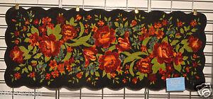NOURISON RED FLOWER ACCENT DECOR KITCHEN RUG/MAT 22X56 100 ...