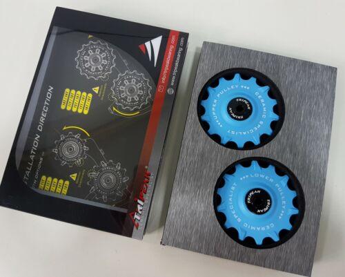 Fits Shimano RD-M9100//RD-M9120 Tripeak 14//14T Super Ceamic Jockey Pulley Wheel