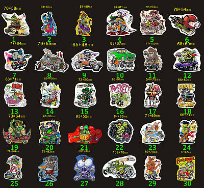 10pcs Rat Fink Vinyl Decal Graffiti Wall Ed Roth Hot Rods Bicycle Stickers