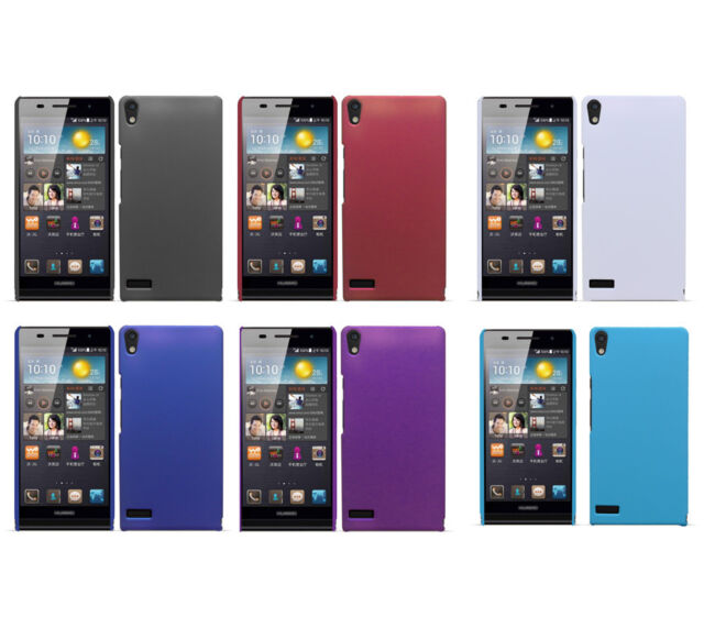 Hard Rubberized Matte Snap-On Slim Cover Case for Huawei Ascend P6