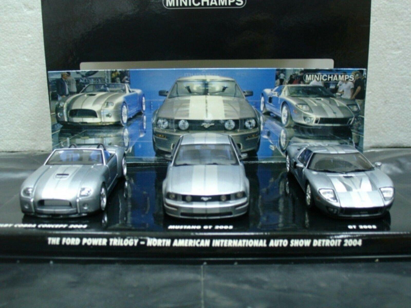 Wow extrêmement rare FORD POWER trilogie Detroit Show 2004 3 CR Set 1 43 Minichamps