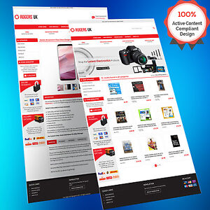 Mobile Responsive EBay Store Design Auction Listing Template - Auction brochure template