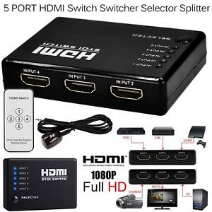 New-5-Port-1080P-Auto-Switch-3D-HDMI-Switcher-Selector-Splitter-Hub-iR-Remote