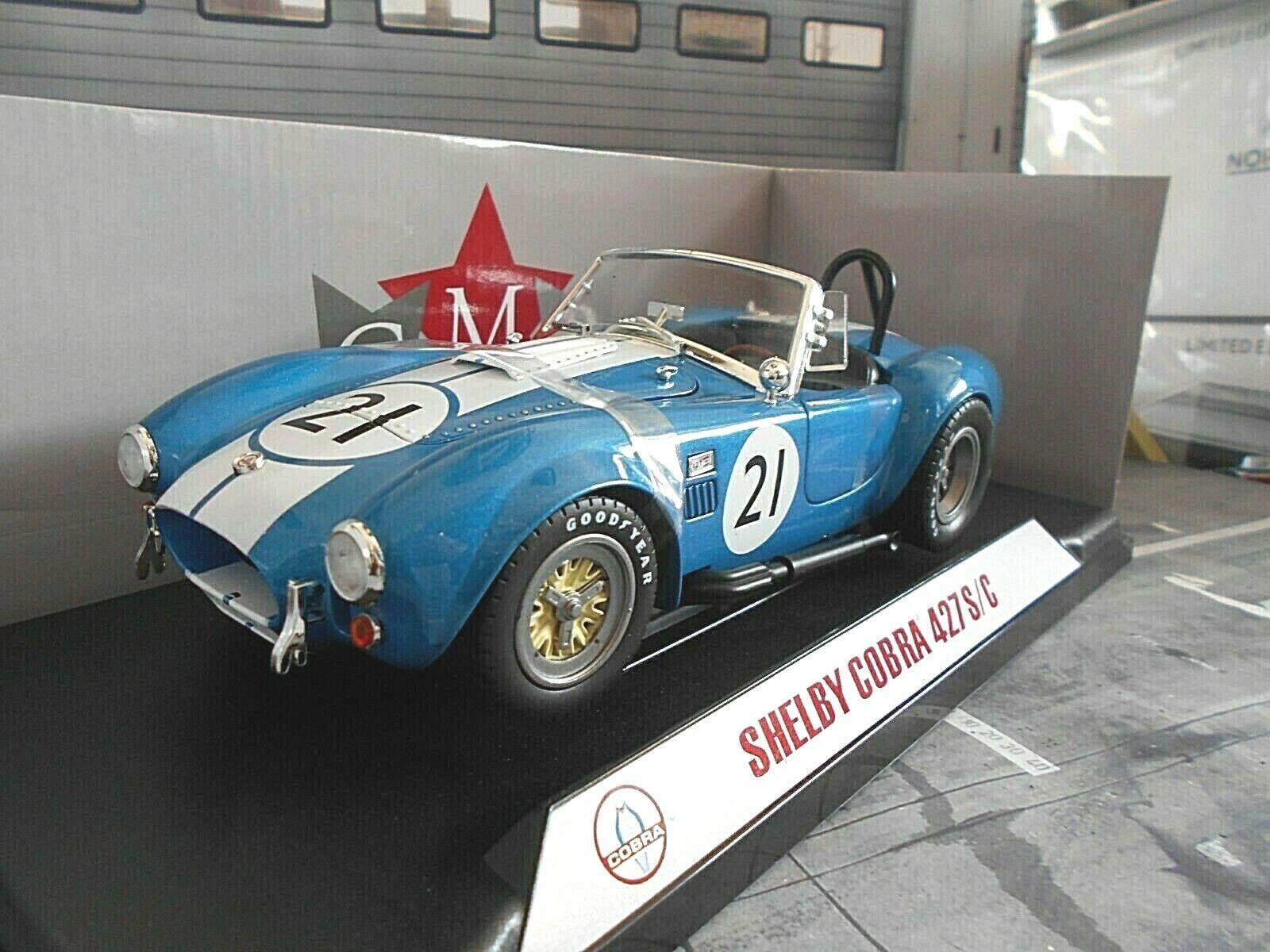 grandes precios de descuento SHELBY SHELBY SHELBY AC Cobra 427  21 Roadster 1965 racing Le Mans CMR 1 18  auténtico