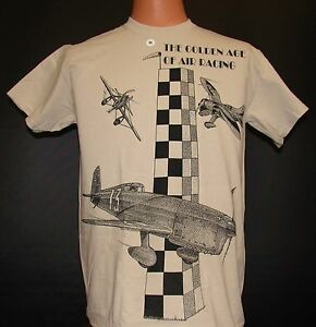 Golden-Age-of-Racing-Airplane-T-shirt-with-HUGE-imprint-on-front-and-back