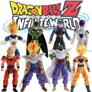 8Pcs//Set Dragonball Z Dragon Ball DBZ Joint Movable Action Figure Kids Anime Toy