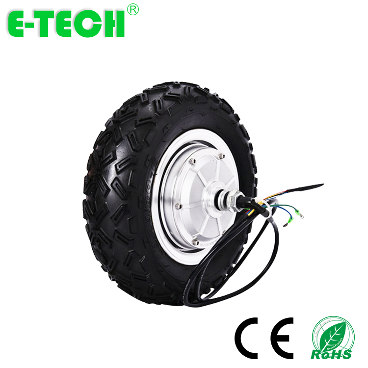 ETech 800w48v Brushless Gearless 10in Ebicicletta Scooter Conversion Kit Hub Motor