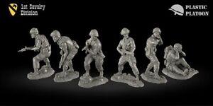 Plastique peloton 1st Cavalry Division Vietnam War TOY SOLDIERS PLASTIC peloton