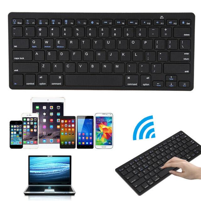 Portable Wireless Bluetooth Keyboard Silver 10M 104 Keys Silent Bluetooth Keypad for Most Smart TV//PC//Laptops//Tablets