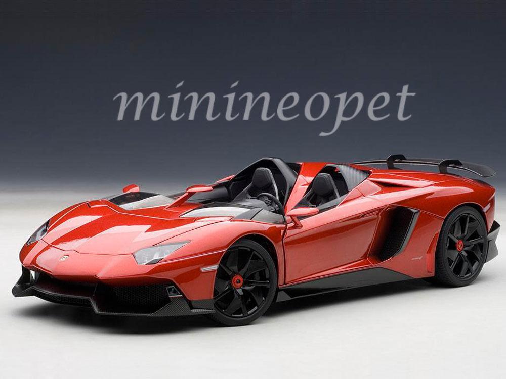 AUTOart 74673 LAMBORGHINI AVENTADOR J 1 18  DIECAST MODEL voiture METALLIC rouge  prix le moins cher