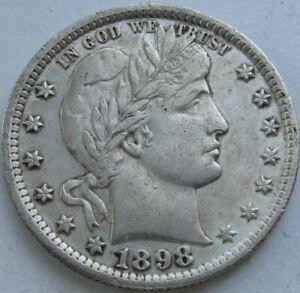1898-Barber-Quarter-in-a-SAFLIP-AU-XF-Details