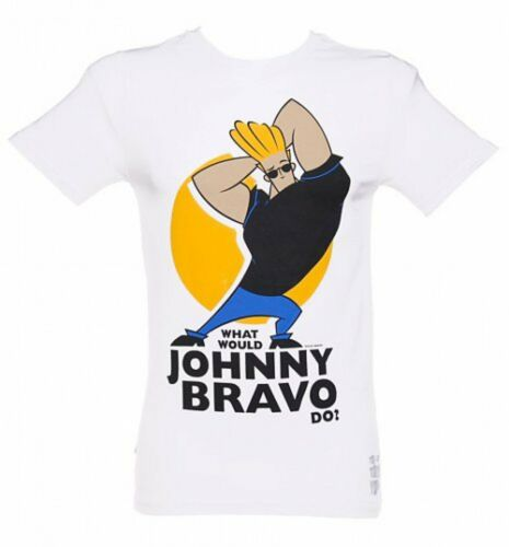 Johnny Bravo Cartoon Network Official Ladies Skinny T-Shirt Various Sizes