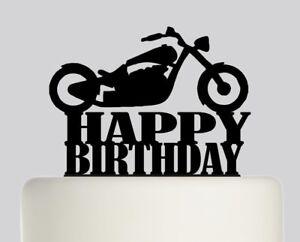 Prime Happy Birthday Chopper Motorbike Acrylic Cake Topper Birthday Cake Personalised Birthday Cards Epsylily Jamesorg