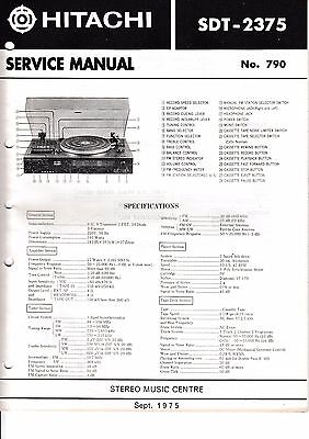 SchöN Service Manual-anleitung Für Hitachi Sdt-2375 SchöN In Farbe Tv, Video & Audio