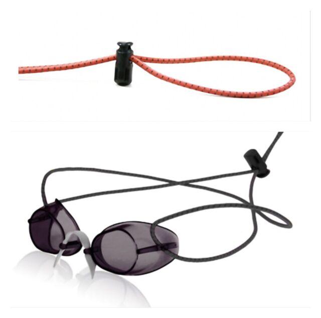 1f876e6e3a2 Sporti Swedish Swim Goggles Antifog Smoke Bungee Strap Bundle for ...