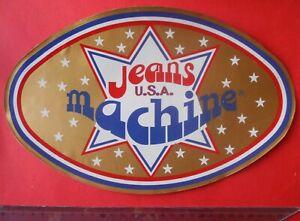 ADESIVO-STICKER-AUTOCOLLANT-JEANS-MACHINE-ANNI-039-80-VINTAGE-29x18-cm