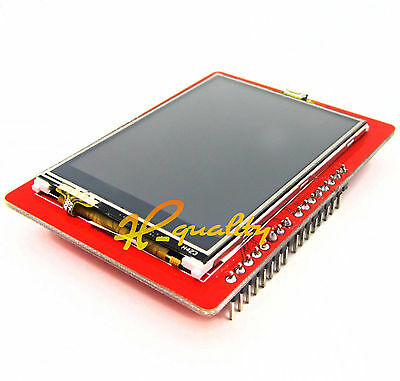 """2PCS 2.4"""" TFT LCD Shield Touch Panel Module TF Micro SD For Arduino UNO R3"""