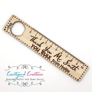 Best Teacher Gift Wooden Oak Ruler Bookmark End Of Term Thank You Present Gift