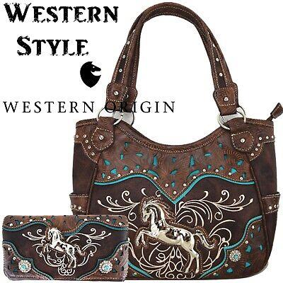 Western Horse Handbag Concealed Carry Purse Women Country Shoulder Bag Wallet Ebay