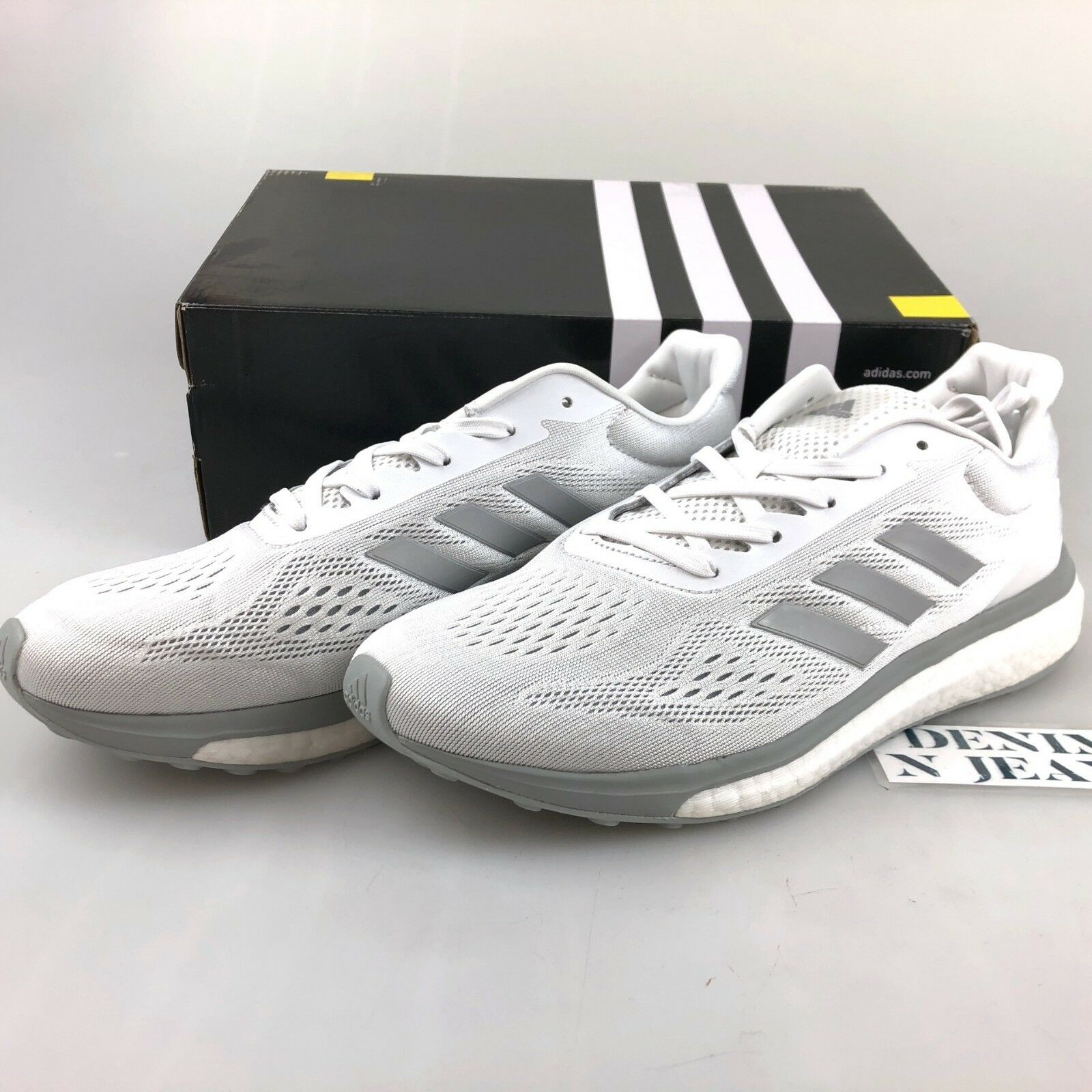adidas White silver Boost Response Limited Running Shoe Womens 9.5 ... c43d1213e