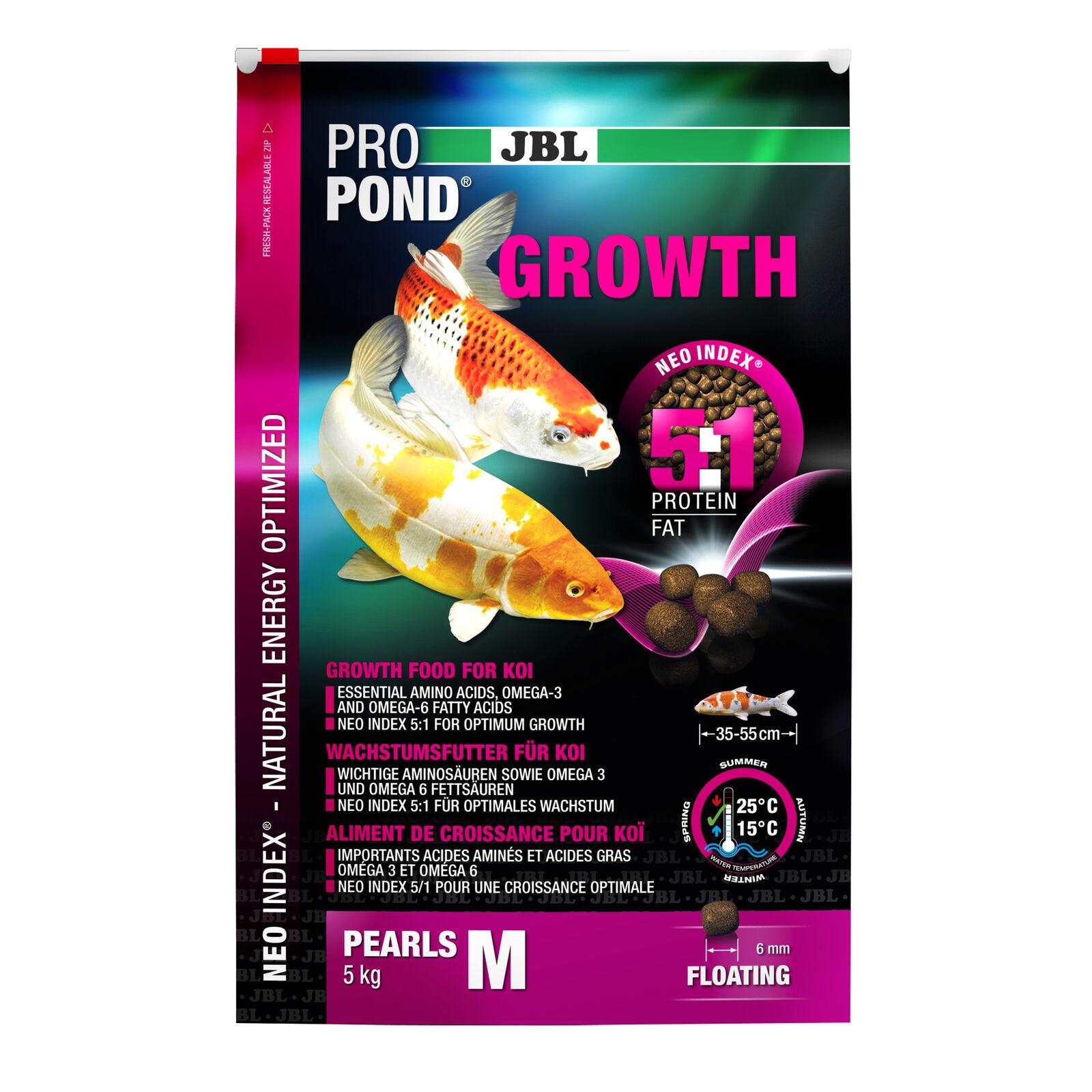 2 Pezzi JBL propond growth M, 2 x 5,0 kg, la crescita di mangimi per medie Koi