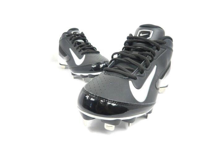 62bb46491ebf NIKE HUARACHE Baseball Cleats Shoes M Size 8 Metal Strike Low Black White  E1-13
