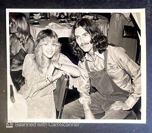 RARE ORIGINAL THE BEATLES PHOTO GEORGE HARRISON FLEETWOOD MAC STEVIE NICKS 1977