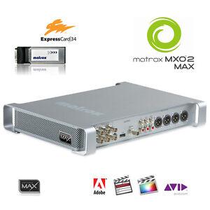 Matrox-MXO2-Max-I-O-Box-mit-ExpressCard34-schneller-Encoder-H-264-MP4-HD-SDI