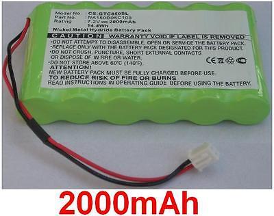 AKKU BATTERIE 7.2V 2000mAh für GRAETZ TC850B TC850C NA150D05C100