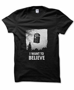 I-Want-to-Believe-Tardis-t-shirt-Doctor-who-present-funny-Dr-Who-nerd-gift