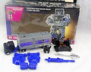 Transformers Original G1 1986 Stunticon Motormaster Complet Pour Menasor Avec Boîte