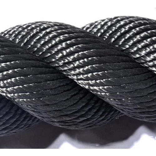 Ø 38mm x 15m Battle Rope Training Fitness Rope Schlagseil Schlangenseil Schwarz