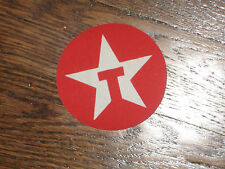 texaco white star,patch,red backround patch, iron on,now, 1980's,set of 2