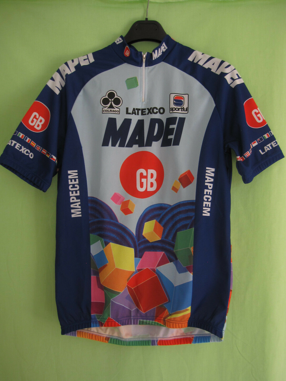 Maillot cycliste Mapei GB Tour 1996 Colnago Vintage Cycling jersey - XL